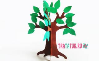 Шаблон объемного дерева