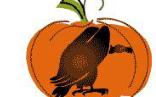Трафарет черепа на хэллоуин