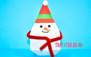 Шаблон снеговика для аппликации распечатать