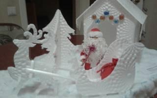 Поделка в садик современный дед мороз