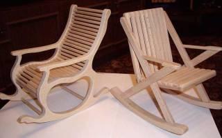 Кресло качалка из картона