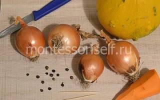 Поделки из лука и чеснока для садика
