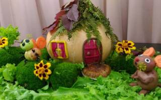 Что можно сделать из овощей поделки