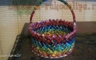Плетение из фантиков от конфет схемы
