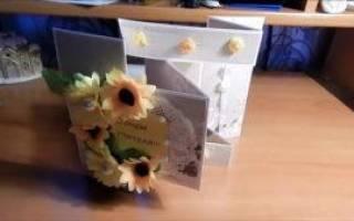 Как сделать открытку на день рождения учителю