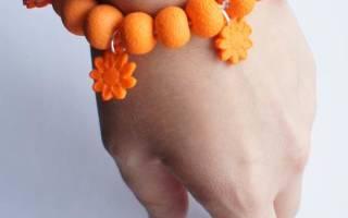 Бусы и браслеты из полимерной глины