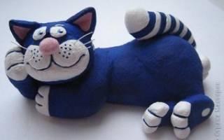 Фигурки котов из соленого теста
