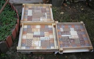 Дорожки в саду из битой керамики