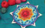 Плетение мандалы клубничка
