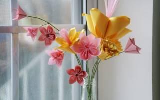 Поделка в садик цветы
