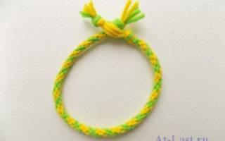 Плетение шнура из ниток