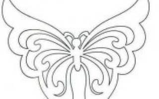 Вытынанки бабочки шаблоны для вырезания