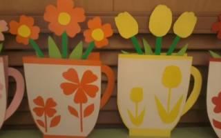 Шаблон чашки для открытки