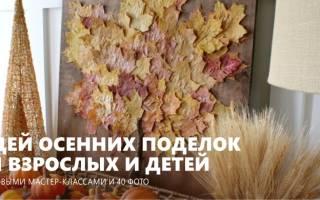Осенние поделки в домашних условиях