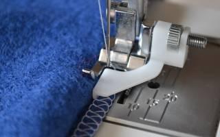 Потайной шов на швейной машинке janome