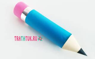 Шаблон карандаша из бумаги