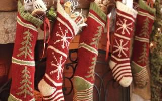 Как сделать рождественский носок
