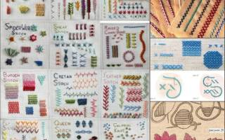 Декоративные швы для вышивки схемы