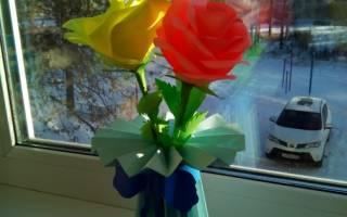 Поделка цветок на палочке