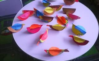 Шаблоны птичек из бумаги для украшения интерьера