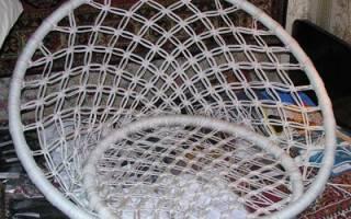 Подвесное кресло из макраме