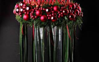 Новогоднее оформление свечей