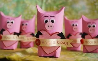 Поделки из бумаги на год свиньи