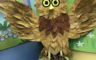 Детские поделки на тему осень сова