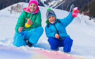 Что можно сделать из снега на улице