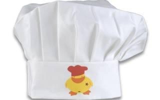 Выкройка колпака повара для ребенка 5 лет