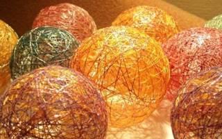 Поделки из воздушных шаров и ниток