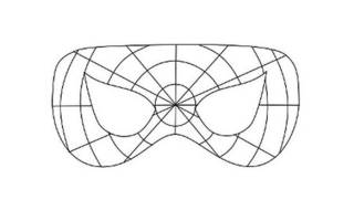 Маска паука на голову распечатать шаблон