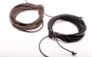 Как плести браслет из шнурков