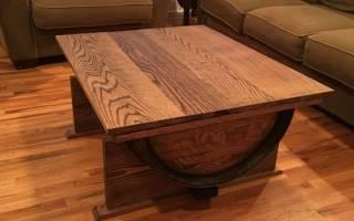 Мебель из бочек деревянных
