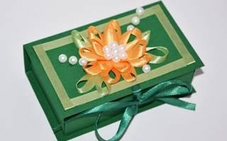 Шаблон шкатулки из картона
