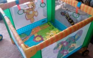 Как собрать детский манеж