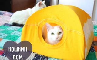 Дом для кошки из футболки