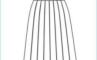 Выкройка юбки в клетку со складками