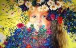 Нарисованный венок из цветов