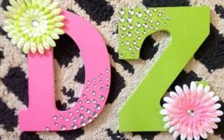 Поделки буквы из различных материалов