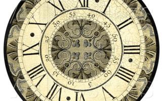 Трафарет часов для вырезания из бумаги шаблоны