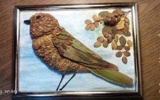Поделки из листьев птицы