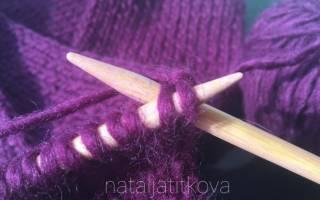 Как соединить шарф хомут спицами в кольцо