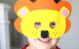 Шаблоны масок животных для детей на голову