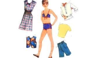 Бумажные куклы модели