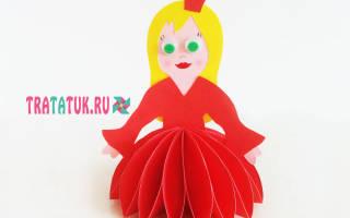 Аппликация кукла из бумаги шаблоны