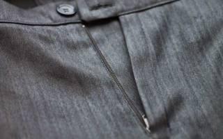 Как вшить молнию на юбке