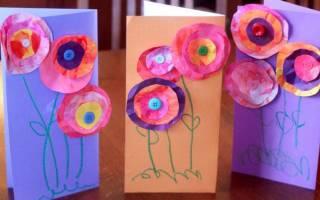 Аппликация открытка для бабушки