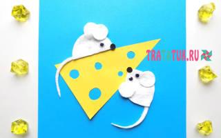 Мишка из ватных дисков