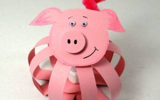 Свинья из бумаги шаблоны